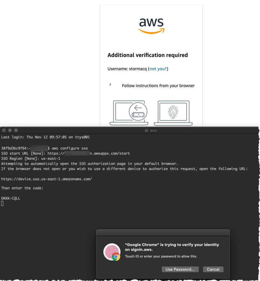 aws configure sso