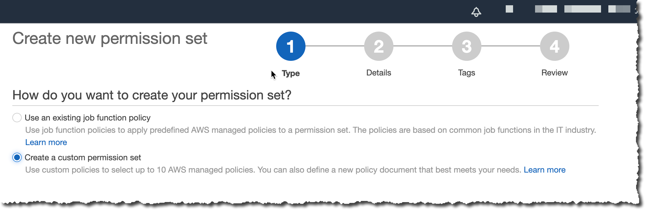 Create a custom permission set