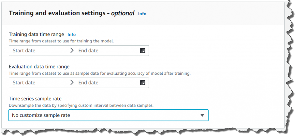 setting up evaluation window