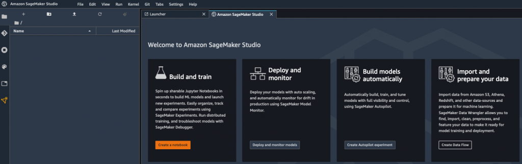 SageMaker screenshot