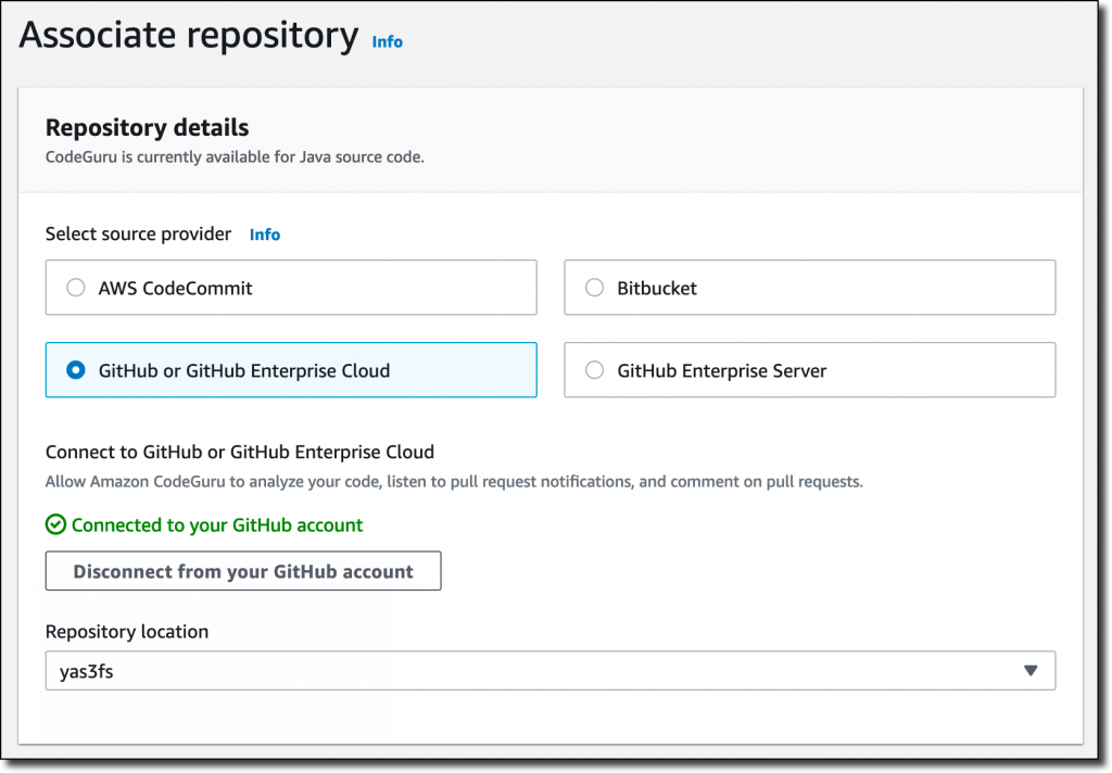 codeguru python associate repository