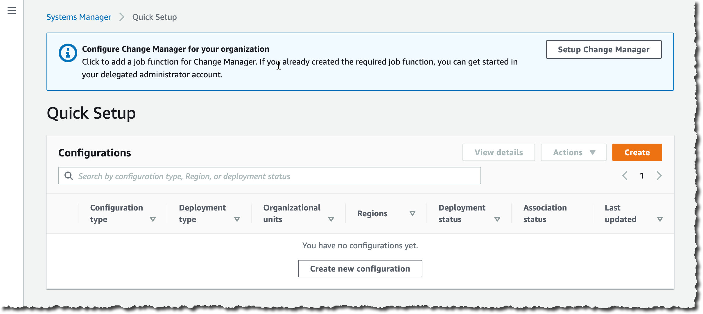 Change Manager Quick Setup
