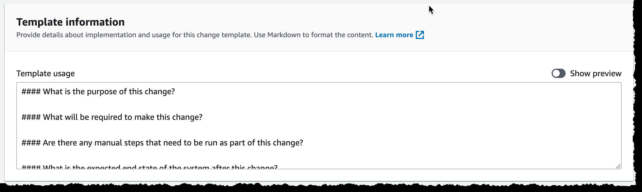 变更管理器模板文档