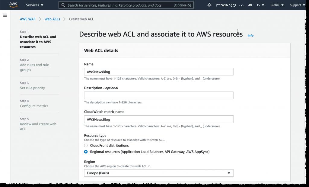 Web ACL Details