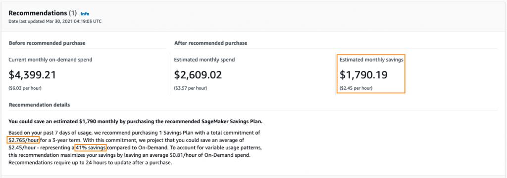 SageMaker Savings Plan
