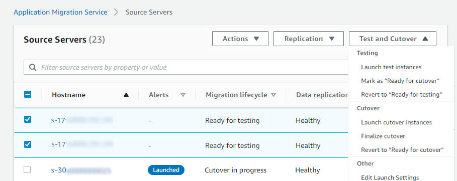 2021 aws mgn source test cutover servers 1