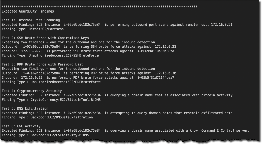SSH screenshot.