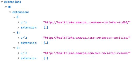 HealthLake のエンティティ