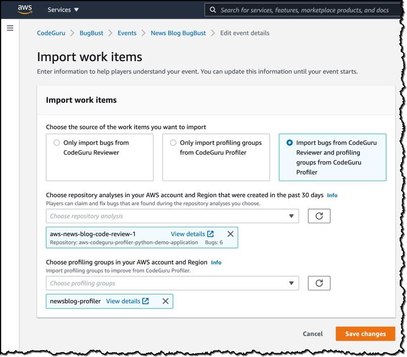import work items0