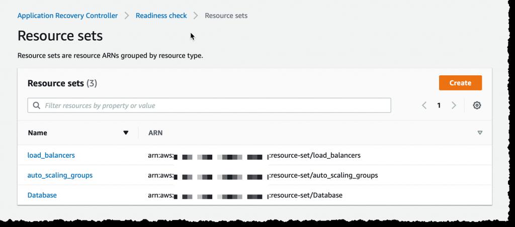 Create Resource Set - 3 Resource Sets