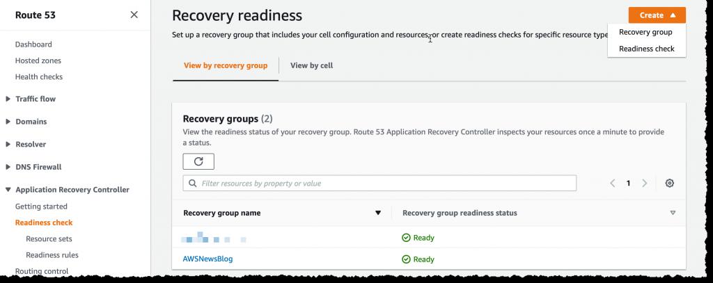 Create Readiness Check