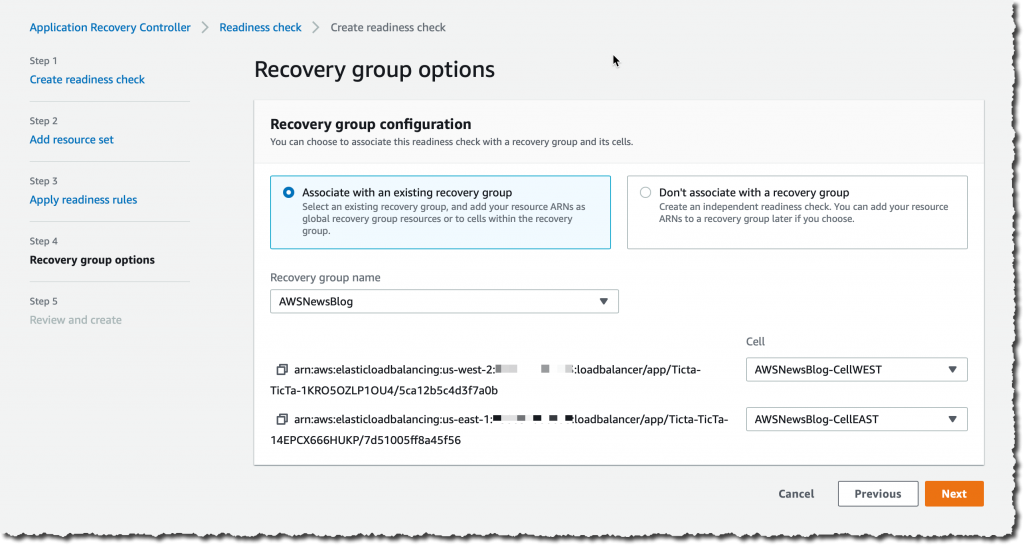 Recovery Group Options