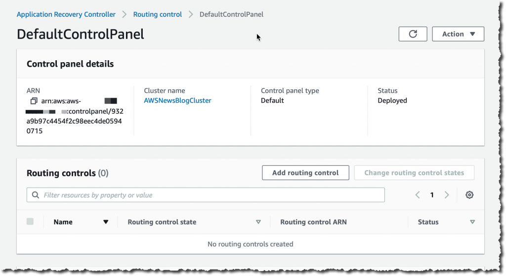 Default Control Panel - Add routing control