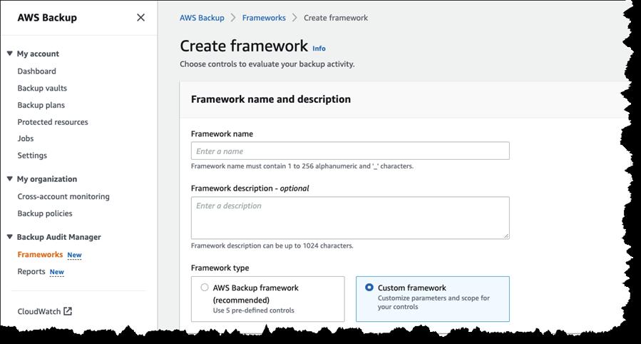 Creating a backup audit framework