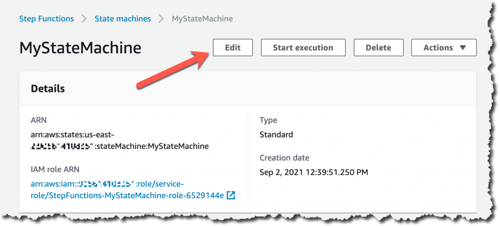 Edit the state machine definition