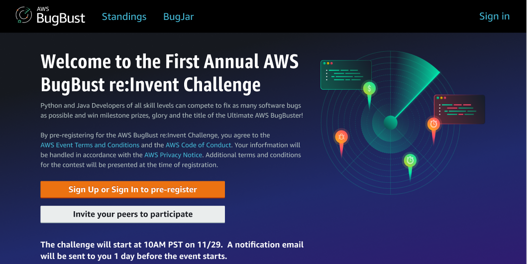 Help Make BugBusting History at AWS re:Invent 2021