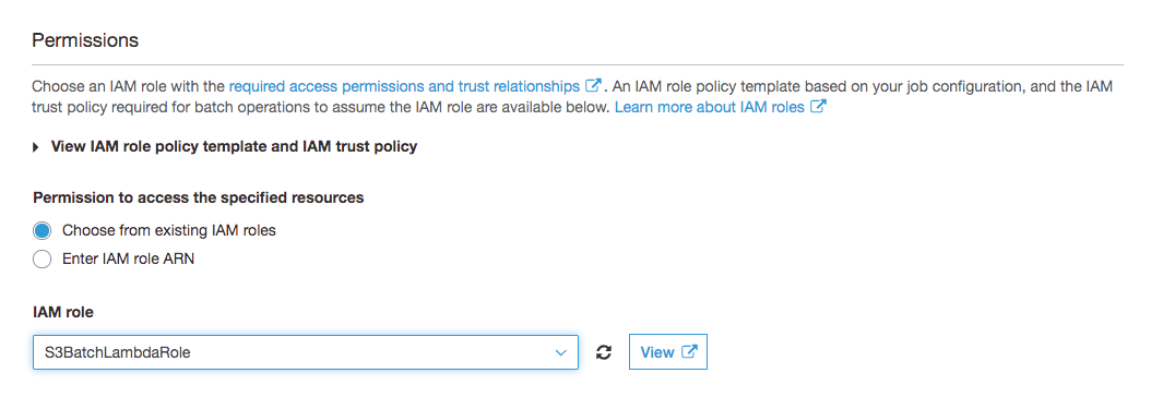 IAM role for your S3 Batch Operations job - Permissions