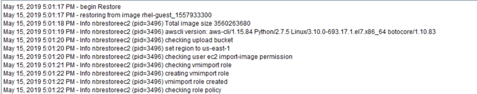 Fig 4 Starting the Amazon EC2 import