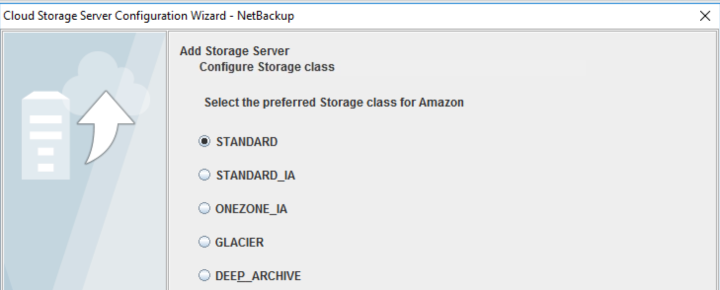 Amazon S3 Storage classes available in NetBackup 8.2