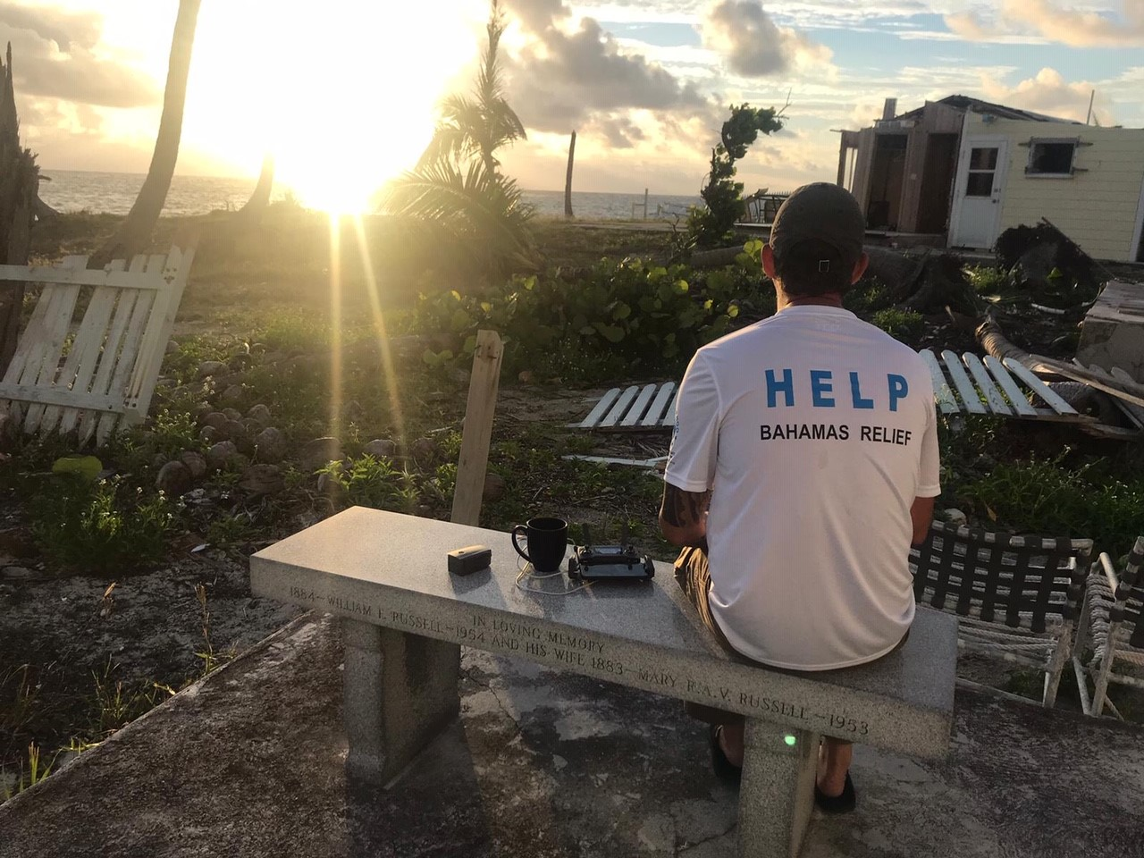 Help.NGO volunteers assessing damage in the Bahamas.