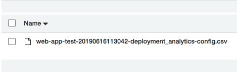 S3 分析フォルダー内の各フォルダーには、対象バケットの Amzon S3 分析レポートが記述された CSV が置かれます