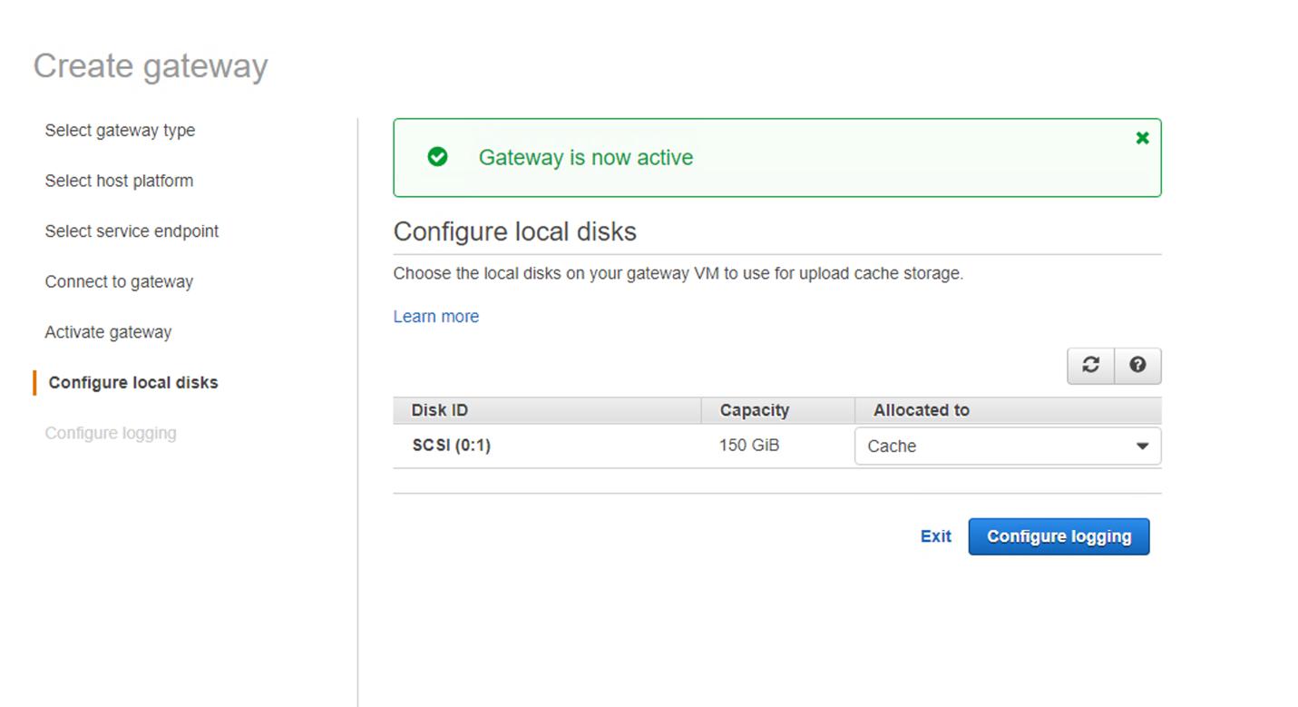 Figure 23. Configure local disks