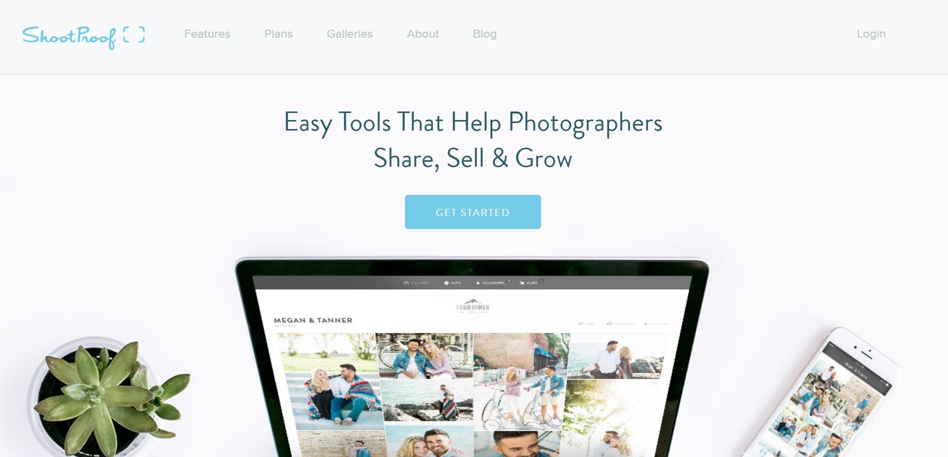 ShootProof homepage
