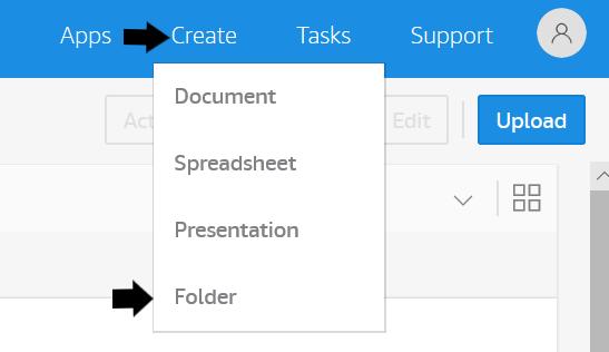 Amazon WorkDocs サイトの [My Documents] で、ファイルとフォルダの移行先となるフォルダを作成します