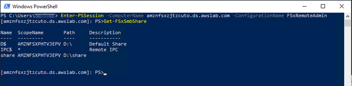 Test with remote management on PowerShell