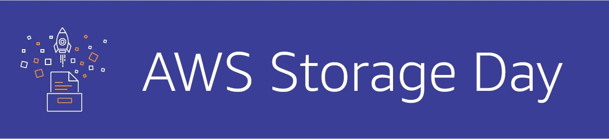 AWS Storage Day blue banner