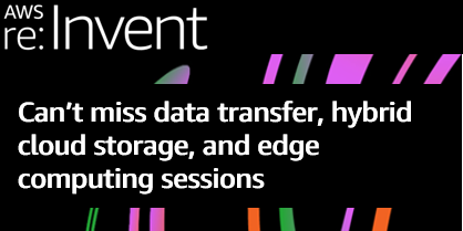 Data migration, edge, and hybrid sessions social image reinvent 2020