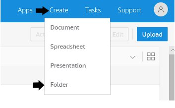 Creating a folder on WorkDocs