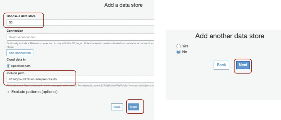 Choosing your data store (Amazon S3) - only adding one data store for this example.