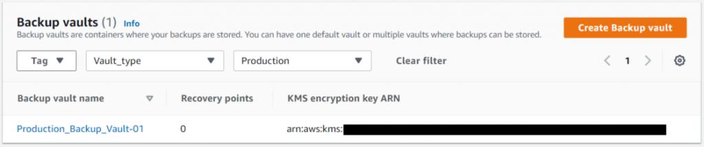 Encryption on a backup wault - AWS Backup - ZS Associates