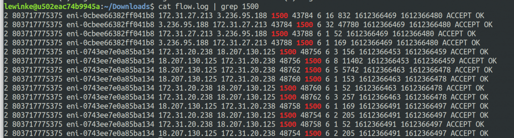 You can take a flow log and then filter for port 1500 in order to see your replication traffic