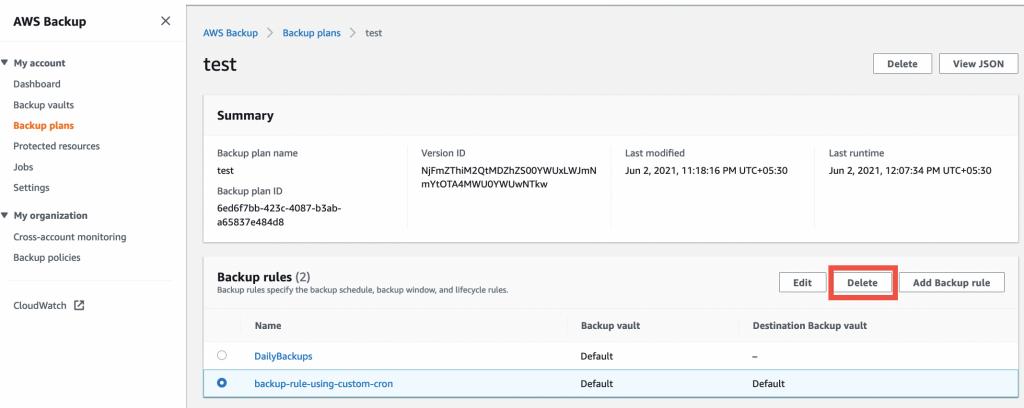 Cleaning up - Automating backups and optimizing backup costs for Amazon EFS using AWS Backup (1)