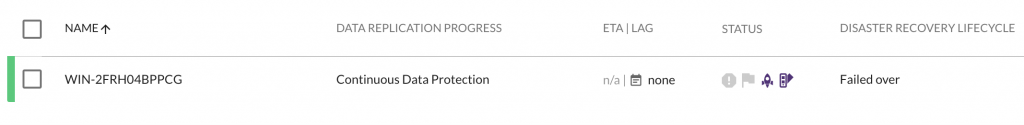 Monitor the job progress and also any activity in your vCenter console to see the original VM come back to life.