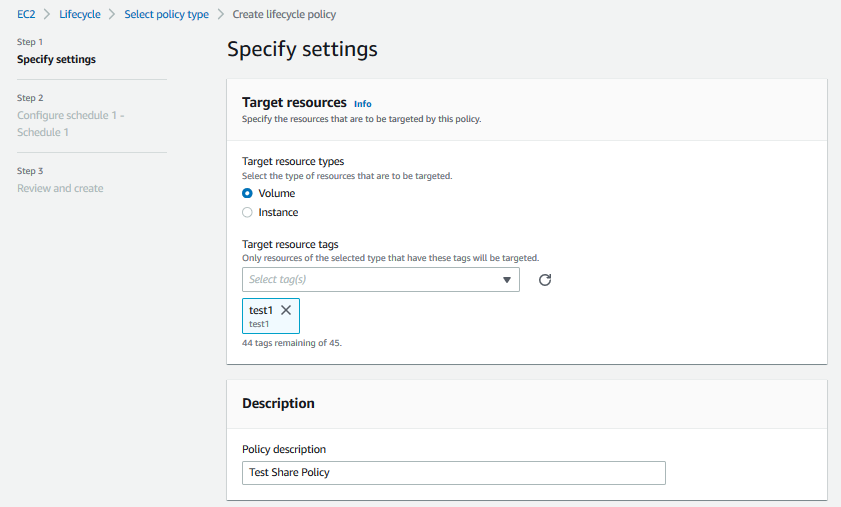Creating your Lifecycle Policy in the AWS Management Console