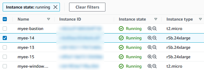 Provisioning the test environment with two r5b.24xlarge Amazon EC2 instances, configured with Red Hat Enterprise Linux