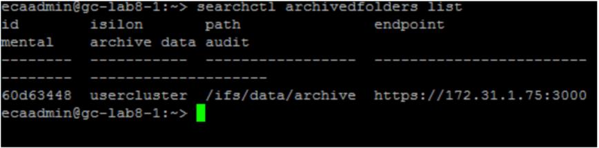 Figure 3 - How to list all backup folders (1)