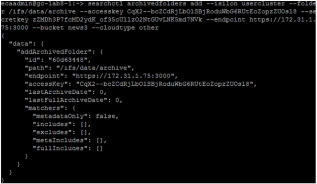 Once you've set up the source and target, add folders to a backup via the CLI (1)