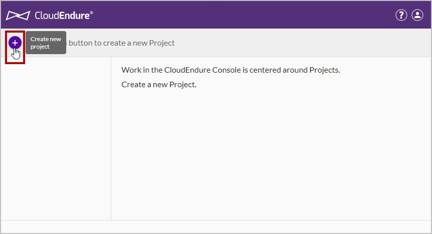 Create a new project in User Console