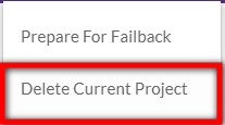 Delete current project
