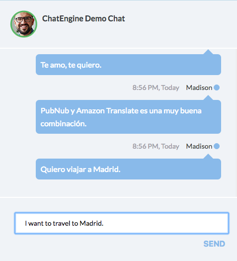 Build smart chat apps with Amazon machine learning APIs and the