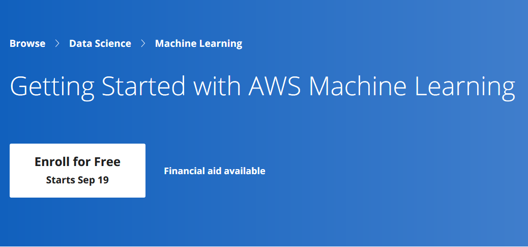 Build your ML skills with AWS Machine Learning on Coursera