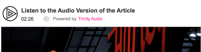 Converting your content to audio for free with Trinity Audio WordPress plugin 1