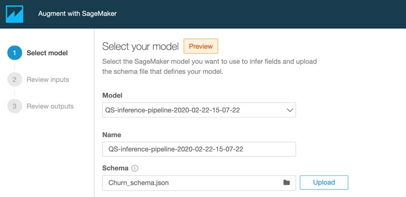 Visualizing Amazon SageMaker machine learning predictions with Amazon QuickSight 11