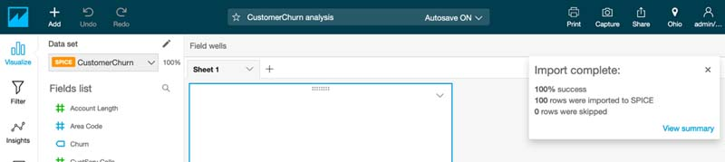 Visualizing Amazon SageMaker machine learning predictions with Amazon QuickSight 15