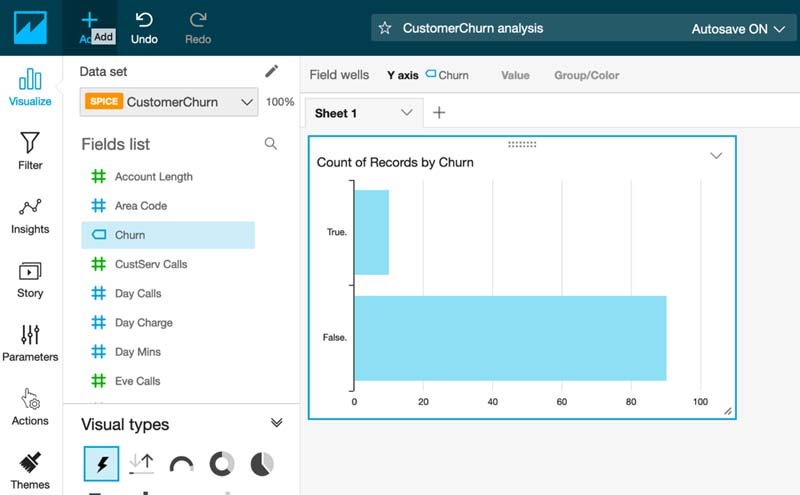 Visualizing Amazon SageMaker machine learning predictions with Amazon QuickSight 17