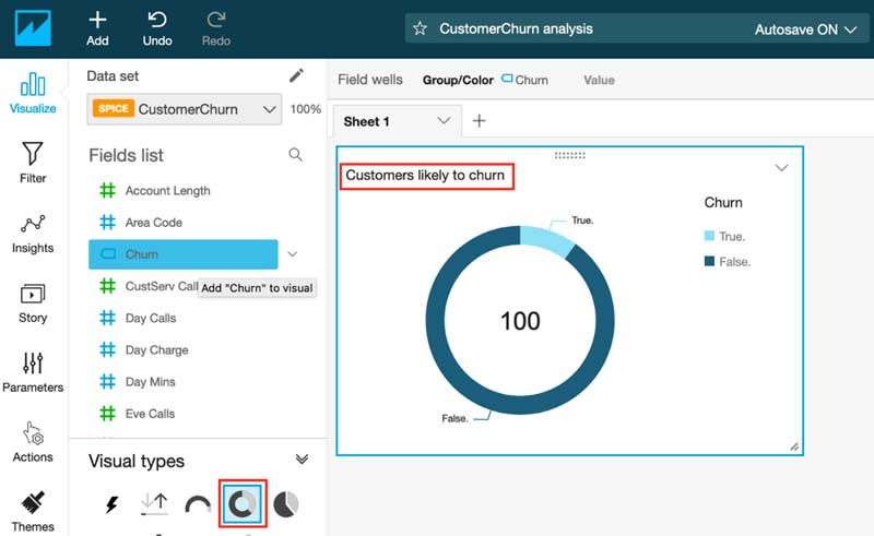 Visualizing Amazon SageMaker machine learning predictions with Amazon QuickSight 18